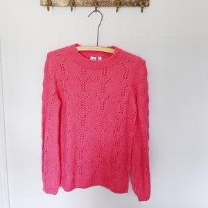 💓GAP | like New Neon Pink knit sweater 💓